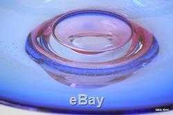 Kosta Boda Goran Warff Pink Blue Centerpiece Bowl Vase Göran Wärff Art Glass