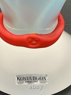 Kosta Boda PANDORA Monica Backstrom Swedish Frosted Glass Vase 10 Vase