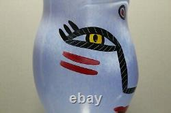 Kosta Boda Ulrica Hydman Vallien Large Vase Open Minds Blue 11 Mint Signed