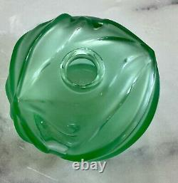 Lalique Soliflore Vase in Light Turquoise Crystal New and Unused Condition