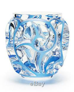 Lalique Tourbillions Small, Clear Blue Painted