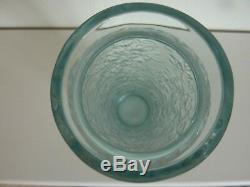 Lalique'bougainvillier' Vase Ocean Blue