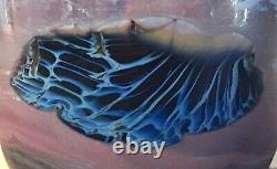 Large John Lewis Signed Art Glass Planet Vase Labino Chihuly