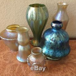 Large Loetz Art Glass Cobalt Papillon Vase