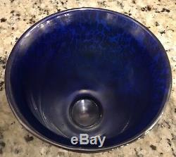 Loetz Cobalt Papillion Urn Deco Vase
