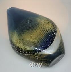 MINT! Signed SVEN PALMQVIST ORREFORS Vase KRAKA Solid Glass SWEDEN, H 9, 1955