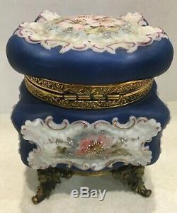 Magnificent UM Wave Crest Ornate Lidded Box- Original Blue Lining- Great Color