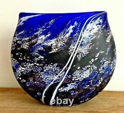 Martin Andrews Studio Art Glass'Stone Series' Vase signed & dated 2007