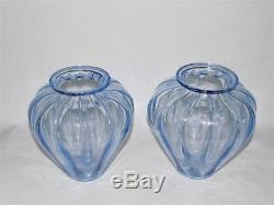 Martinuzzi Costolato Murano Glass Vases