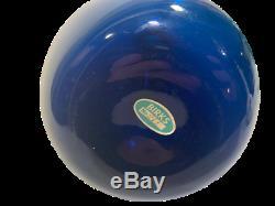 Mid Century Swedish Royal Blue Bulb Glass Vase Aseda Arthur Percy Gullaskruf