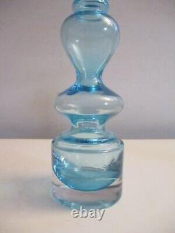 Mid-century Danish Modern Otto Brauer for Holmegaard Hand-blown 9 Vase ca. 1960