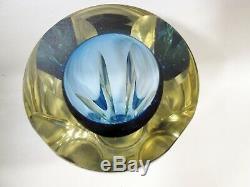 Midcentury Italian Murano Sommerso Glass Vase Flavio Poli Alessandro Mandruzzato