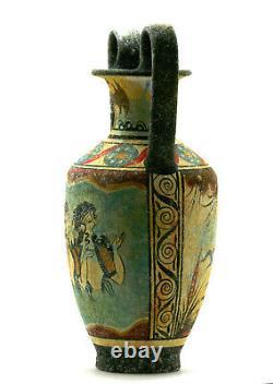 Minoan Vase Pottery Painting Blue Ladies Ancient Greek Crete Ceramic Knossos