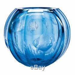 Moser Fish Globe Vase 10.6h Brand New
