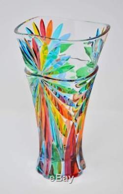 Murano Glass Large Starburst Vase Handmade Italian Glass