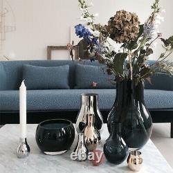 NEW Georg Jensen Cafu Vase Glass Medium Blue