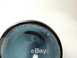 Nanny Still Bottle Vase Glass Riihimmaen Lasi Oy MID Century Signed 32 CM Blue