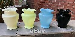 Nice & Clean Vintage Mckee Chalaine Blue 8 Sarah Vase Depression Free Shipping