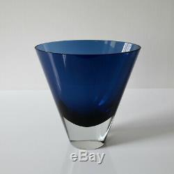 Nuutajärvi Kaj Franck KF 234 Vintage Deep Blue Art Glass Vase