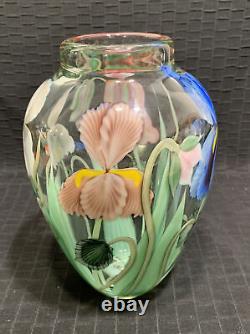 Orient & Flume Ed Alexander Signed & Numbered Floral Vase 9 Rare Mint
