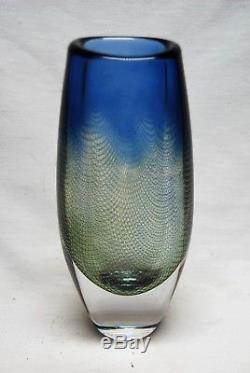 Orrefors Large Vase Kraka Design Sven Palmquist