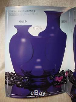 Pilgrim Glass Masterworks 29 Empire Vase Cobalt Blue