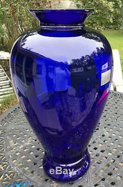 Pilgrim Glass The Masterwork Collection Large 29 Tall Cobalt Blue Vase