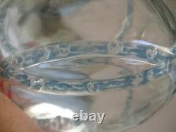 R. Lalique Clear/ Light Blue Intertwined Guirlande De Roses Footed Vase