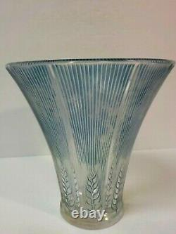 R. Lalique France EPIS 6.5 Vase, Blue Patina / Staining, c. 1930's