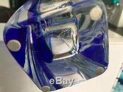 RARE Kosta Boda Signed Goran Warff SAILS 12 Vase Clear/Blue ARTIST'S CHOICE