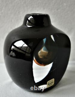 RARE Small Room Jewelry By GORAN WARFF KOSTA BODA Sweden Art Glass Vase, H 3 1/2