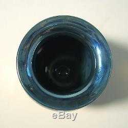 RICHARD SATAVA Signed WISTERIA MOON Hand Blown Studio Art Glass 5 Vase c. 1988