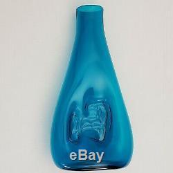 Rare Blenko Vase #5518 1955 Catalog Wayne Husted Teal Impressed Horse 15 Tall