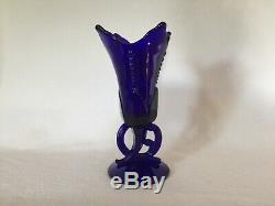 Rare COBALT Heisey 1420 9 1/8 Tulip Vase