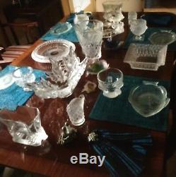 Rare DAUM FR Pate de Verre Amethyst Purple Blue ORCHID Crystal Vase 8.5 Signed