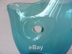 Rare Glass Vase Forato Venini Murano Fulvio Bianconi 1950s 3 Lines Acid Stamp