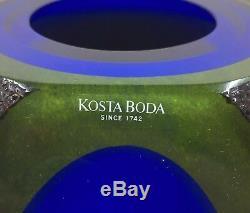 Rare KOSTA BODA Art Glass Vase MOONLANDING Series by Monica Backstrom Amazing