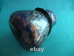 Rare Loetz Glass Iridescent Cobalt Vase