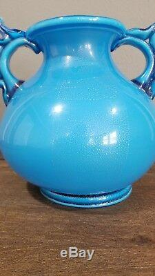 Rare Published Napoleone Martinuzzi Vase 2 Line Venini Acid Stamp