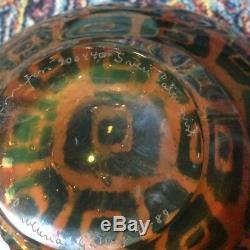Rare SVEN PALMQVIST RAVENNA bowl, Made by ORREFORS, Sweden circa 1989