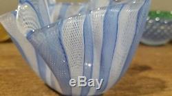 Rare Vintage Murano Fazzoletto Glass Vase Fulvio Bianconi for Venini Acid Stamp