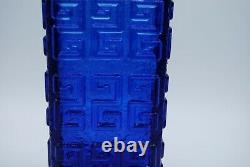 Riihimaen Lasi Oy. Finland. Tamara Aladin. Large Vase Taalari In Blue. 20 CM