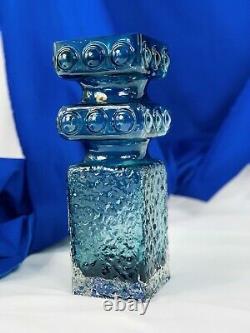 Riihimäen Lasi kehra Vase Designed by Tamara Aladin E. 1970