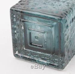 Riihimaki Glass (Riihimaen Lasi) Smokey Blue Kehra 1496 Vase by Tamara Aladin