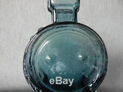 Riihimaki/Riihimaen Lasi Oy Glass Ahkeraliisa Vase in Blue Grey Helena Tynell