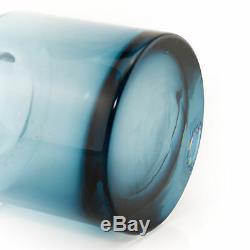 Riihimaki Smokey Blue Cog Vase