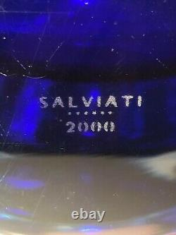SALVIATI MURANO Glass Multicolor Teardrop Vase, 2000