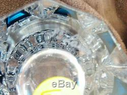 Saint Louis Crystal Vase Blue To Clear RARE
