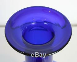 Set three Blue Holmegaard Gulvase Gul Vase Denmark Otto Brauer 20 14 12