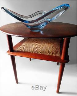Signed Per Lutken 1955 Holmegaard Denmark Mid-century Design Bowl Vase Eames Era